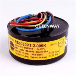2* 9V 12V 15V 18V 25V 30W 4A RS Talema Fully Shielded Toroidal Transformer 30VA Primary Rated Voltage 230V AC