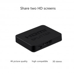 2 Port  Y Splitter 1 In To 2 OUT Dual Display TV HDTV