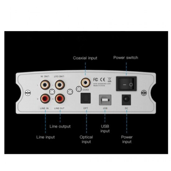 AUNE X1S 2020 Home HIFI DAC Headphone Amplifier ES9038Q2M DSD512 USB DAC Headphone Amp 32BIT/768K DOP128 DOP64