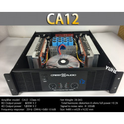 CA12 Professional Power Amplifier Pure Power Amplifier 2 channels 3U KTV/Stage/Home Entertainment KTV 8ohm 600W*2/4ohm 1200W*2