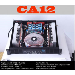 CA12 Professional Power Amplifier Pure Power Amplifier 2channels  2U KTV/Stage/Home Entertainment KTV 8ohm 450W*2/4ohm 900W*2