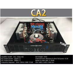 CA2 Professional Power Amplifier Pure Power Amplifier 2channels 2U KTV/Stage/Home Entertainment KTV 8ohm 175W*2 4ohm 350W*2