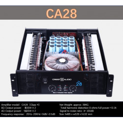 CA28 Professional Power Amplifier Pure Power Amplifier 2channels  (3U) KTV/Stage/Home Entertainment KTV 8ohm 400W*2/800W*2