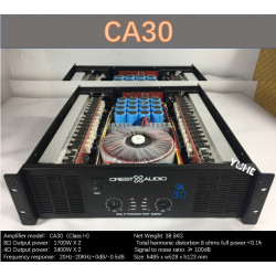 CA30 Professional Power Amplifier Pure Power Amplifier 2channels (3U) KTV/Stage/Home Entertainment KTV 8ohm 850W*2/4ohm 1700W*2