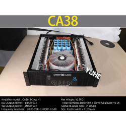 CA38 Professional Power Amplifier Pure Power Amplifier (3U) KTV/Stage/Home Entertainment KTV 8ohm 1300W*2/4ohm 2600W*2