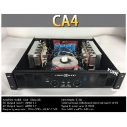 CA4 Professional Power Amplifier Pure Power Amplifier 2 channels 2U KTV/Stage/Home Entertainment KTV 8ohm 225W*2 4ohm 450W*2