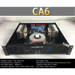 CA6 Professional Power Amplifier Pure Power Amplifier 2 channels 2U KTV/Stage/Home Entertainment KTV 8ohm 300W*2/4ohm 600W*2