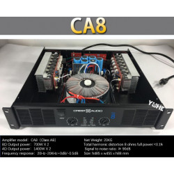 CA8 Professional Power Amplifier Pure Power Amplifier 2 channels 2U KTV/Stage/Home Entertainment KTV 8ohm 350W*2/4ohm 700*2