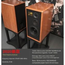 DV1508S DV1508N HiFi hi-end speaker 8-pollici a tre vie scaffale in legno massello altoparlante SB Acustica e vifa ne unità di punta basso