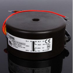 Double 18V 2.22A 80W 80VA NEW NORATEL Sealing Toroidal Transformer Primary Rated Voltage 0-230V 50/60Hz