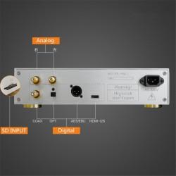 FPGA Digital Turntable lossless CD Player WAV/FLAC/CUE/AIFF/APE/MP3/DSD/ALAC Support IIS I2S DSD256
