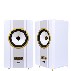H-123 S-BACH coaxial M8   5/6.5/8/10inch home HiFi recording studio active monitor box desktop bookshelf speaker PK Tianlang