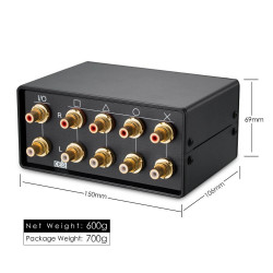 HiFi 4-way audio switcher RCA 4 in 1 out, 1 in 4 out converter MC6 Alps