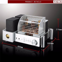 K-025 YAQIN MS-500B Integrated Amplifier ClassA Single-ended Vacuum Tube HiFi Integrated Amp 300B6/N8Px2 12AU7x2 5Z3Px1 110-240V