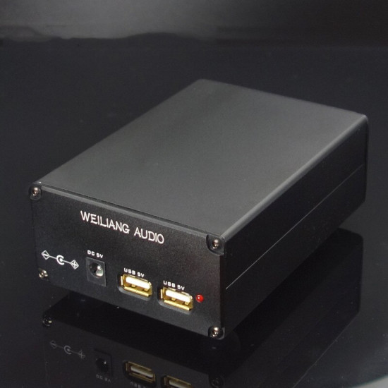 L-029 5V USB 15W DC port dual output linear thermal power supply voltage regulator CAS XMOS Raspberry