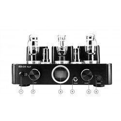 Little Dot A1 6SH7 Vacuum Tube Decoder ES9038PRO DSD512 DAC Decoding Pre Amplifier Headphone Amplifier RCA 6SN7 JJ 2A3