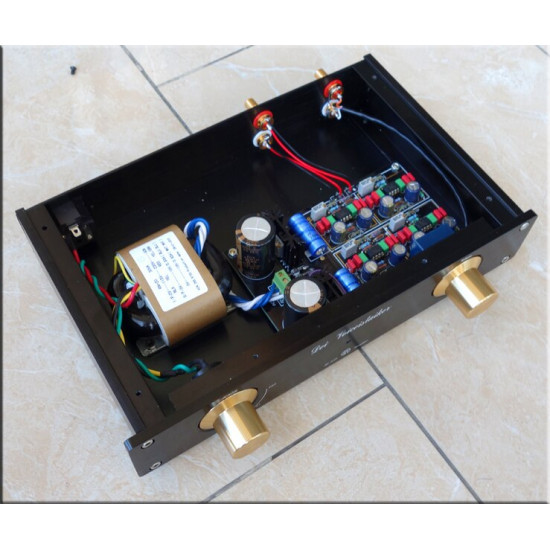 M-011  Germany MBL6010D Preamplifier copy Black Gold limited version HIFI Pre amplifier PREAM 265mm* 52mm*171mm