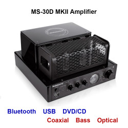 MS-30D MKII Bluetooth Amplifier tube Amplifier support Bluetooth USB optical Coaxial Bass DVD CD input Amplifier