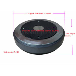 Pt-012 170 Magnetic 75 Core Professional Stage Performance Horn Tweeter 72.2 Core Treble Driver 100w 110db 8ohms
