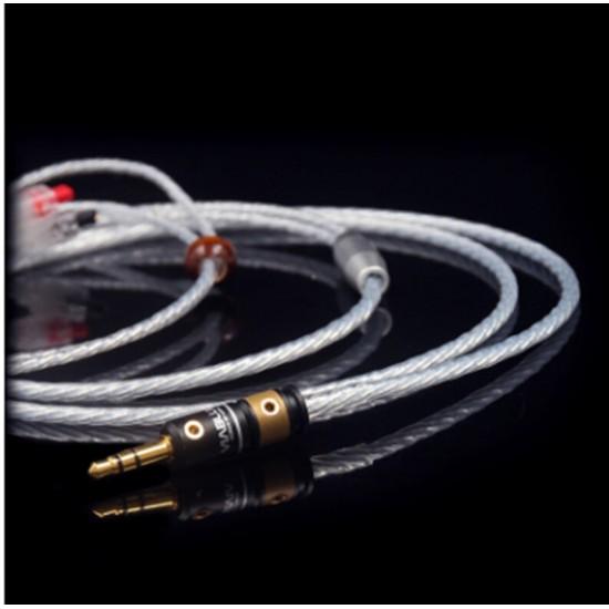 RH-001 Music Ribbon Odin Sterling Silver se846ie80 ue900w4rfx1200HIFI headphone cable